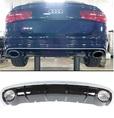 Audi A6 C7 диффузор RS6 с насадками выхлопных труб