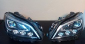 Mercedes CLS W218 фары LED active beam рестайлинг 2014-