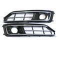 Audi A8 D4 W12 решетки в бампер рестайлинг