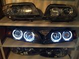 BMW E39 фары рестайлинг с белыми глазками