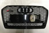 Audi A6 C7 решетка радиатора RS6 рестайлинг черная глянец Quattro