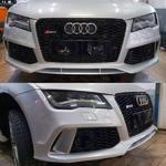 Audi A7 одели бампер RS7 + решетка радиатора