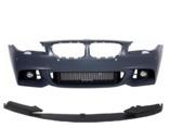BMW 5 F10 передний бампер M-пакет + сплиттер (рестайлинг)