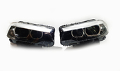 Светодиодные фары LED линзованные для BMW 5 G30 дорестайлинг 2016-2020 год