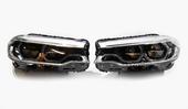 Комплект светодиодных фар LED вместо линзованных для BMW 5 G30 2016-2020 год с зачетом старых фар