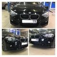 Установка переднего бампера M-Technik на BMW 1 F20