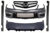 Mercedes C-class W204 Facelift C65 AMG обвес с решеткой радиатора Sport Black