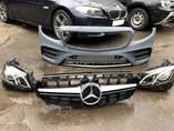 Mercedes w213 передний бампер + решетка радиатора + комплект фар