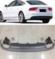 Audi A7 S7 диффузор с выхлопом