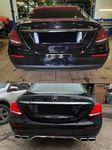 Установили наш диффузор с насадками в стиле AMG E63 на Mercedes-Benz E-Klasse W213 дорестайлинг