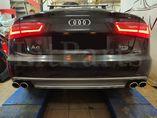 Установили наш диффузор заднего бампера S-Line в сборе с выхлопом S6 на Audi A6 C7 дорестайлинг