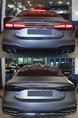 Установка нашего диффузора в бампер S-line с насадками в стиле S-Line на Audi A7 4K