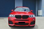 Установка нашей решетки радиатора M-Performance для BMW X3 F25 рестайлинг