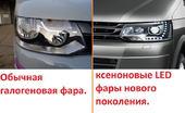 Volkswagen Multivan T5 LED оптика 2009-